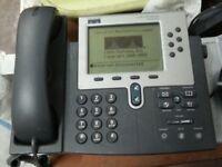 3x Cisco VoIP Unified IP SIP Phones CP-7960G w/Handset - Pls. Read Decription!