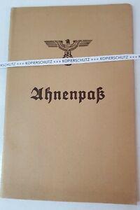 Ahnenpass alt ca. 1940 unbeschrieben blanko - Bestzustand