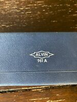 Vintage Alvin Precision Instruments 961A Compass with case Made in  W Germany