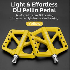 ROCKBROS Bicycle Nylon Pedals Mountain Bike DU Bearing Widen MTB BMX Pedals