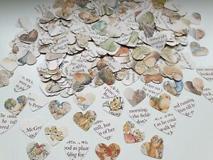 Beatrix Potter Heart Book Confetti Peter Rabbit Vintage Party Baby 1Inch Wedding