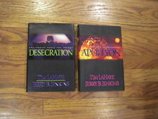 2 Hardcover Left Behind DESECRATION APOLLYON  Lahaye Jenkins