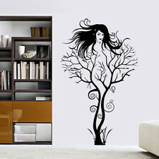 Black Beauty Girl Tree Room Home Decor Removable Wall Stickers Decals Decoration