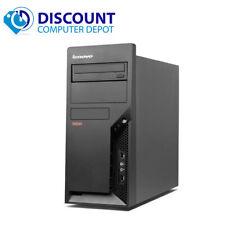Fast Lenovo Desktop Computer Tower Windows 10 Pro Dual Core CPU 2.5GHz 4gb 1TB