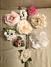Vintage 1960's Lot of (9) Millinery Flowers