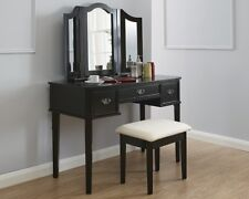 Beautiful Traditional Victorian Style Dressing Table with Stool and Mirror