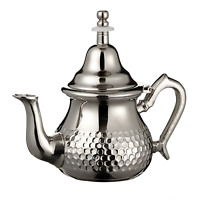 Moroccan Teapot Hammered Silver Free Teapot Holder Handmade in Morocco