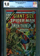 Giant-Size Spider-Man #5 CGC 9.0 (1975) Man-Thing Lizard Gwen Stacy Clone White