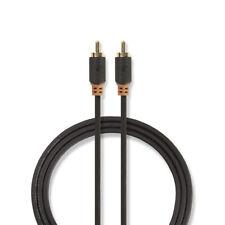 Cable Coaxial S/Pdif Chapado Con Espina Rca Para Audio/Vídeo Digital/Subbúfer