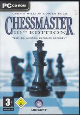 Chessmaster: 10th Edition (PC, 2004) w/3 Discs, Handbuch und CD-Key