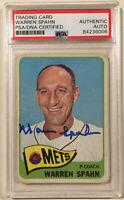 1965 Topps WARREN SPAHN Signed Baseball Card PSA/DNA #205 New York Mets HOF