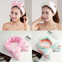 Women Headband Bow Knot Wash Face Headband Hiar Wrap Elastic Makeup Hairband Hot
