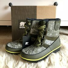$130 New Sorel Womens Tivoli II Peatmoss Green Waterproof Winter Snow Boots Sz 6