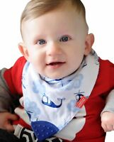 Nuby Reversible 2 Piece Teething Bib, Fire Engine, Blue Helicopter