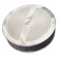 C2 C3 Corvette 1963-82 Round Diamond Top 14in Air Cleaner-Clear Protective Coat
