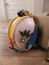 BURBERRY leather Derek The Bird charm keyring authentic - New in Box