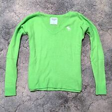 NWOT Abercrombie & Fitch Women's V-Neck Sweater Size XS Lime Green