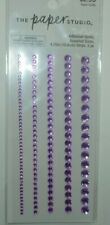 New ITEM! PAPER STUDIO PURPLE  4.25  STRIPS  GEMSTONES
