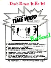 Rocky Horror Show (1973) Time Warp Instruction Sheet! Don't Dream It.Be It!