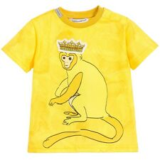 DOLCE AND GABBANA BABY YELLOW MONKEY T-SHIRT TOP 12-18 MONTHS