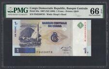 Congo 1 Franc 1997 UNC (Pick 85a) PMG-66 EPQ (0452097)