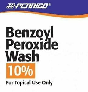 Perrigo Benzoyl Peroxide 10% Wash for Mild Moderate Acne Vulgaris, 8 oz, 4 Pack