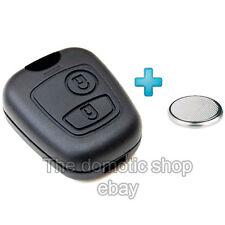 Coque + PILE Clé clef Peugeot 206 Télécommande Plip 2 Bouton