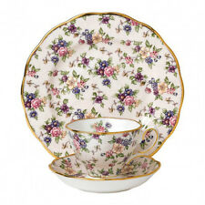 ROYAL ALBERT 40017568 TAZZA TE' CON PIATTINO+PIATTO 20 CM ENGLISH CHINTZ 1940