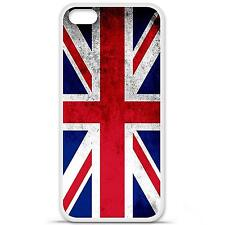 Coque housse étui tpu gel motif drapeau UK Iphone 5C