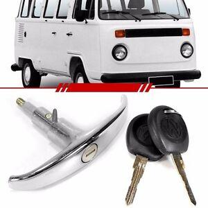 VW TYPE 2 BUS REAR DOOR HATCH T HANDLE LOCK KOMBI DELUXE HOOD TRANSPORTER T2