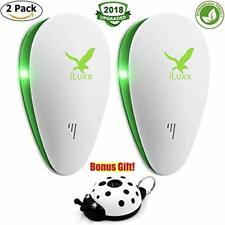 iLuxx Creations Ultrasonic Pest Repeller Best Pest Control Repellent Set Of 2