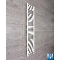 400mm Wide 1800mm High Straight White Heated Towel Rail Radiator Bathroom Rad
