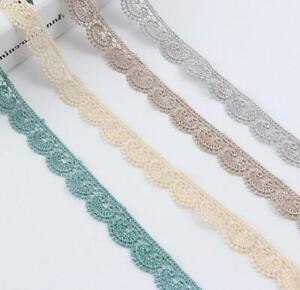 Wuyee Daisy Lace Trim Ribbon White and Yellow Flower Applique Sewing Dressmaking Edging Trimmings Sewing Embellishments