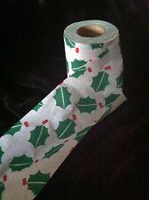 VTG Novelty Toilet Paper Gag Gift HOLIDAY CHRISTMAS HOLLY MC  WILDENDUR like