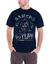 Sons of Anarchy Camiseta Para Hombres Azul Samcro Outlaw oficial SOA Logotipo De Calavera armas
