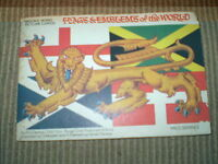 FLAGS & EMBLEMS OF THE WORLD 1967 BROOKE BOND COMPLETE TEA CARD ALBUM,VGC