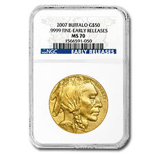 2007 1 oz Gold Buffalo Coin - Ms-70 Early Releases Ngc