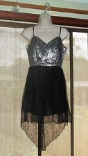 'Loving Things' Black and Silver Mullet Dress Size 10 NWT