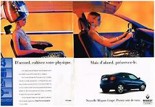 PUBLICITE ADVERTISING   1997    RENAULT  MEGANE COUPE (2 pages)