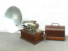 antiker Phonograph Pathé Fréres, um 1905/10, komplett, voll funktionsfähig