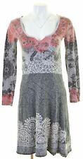 DESIGUAL Womens A-Line Dress Size 10 Small Multicoloured Cotton  II05