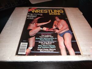 WRESTLING  SCENE Magazine october 1982 vol 2 no 2 andre the giant wwe wcw