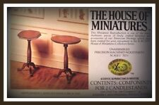 DOLLHOUSE HOUSE OF MINIATURES 2 HEPPLEWHITE CANDLESTANDS KIT, ANTIQUE REPLICAS *