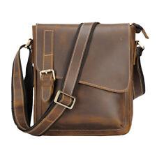 Men Genuine Leather Shoulder Bag Business Messenger Crossbody Bag Office Satchel