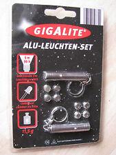 2 GIGALITE/Mellert Alu-Schlüsselleuchte, Taschenlampe, Set LED G1, 5m-2km, Weiß