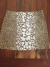 J CREW MINI Cotton SKIRT Brown White LEOPARD ANIMAL PRINT Size 4