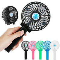 2018 Portable Rechargeable Fan Air Cooler Mini Operated Hand Held USB NO Battery