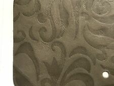 """Taupe Lilly Floral Embossed Scrap Leather Piece 4.5""""x4.5"""" P21"""