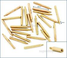 25pc 40mm M3 Male Female Brass Hex Standoff Spacer Screw Separator Stand Off PCB