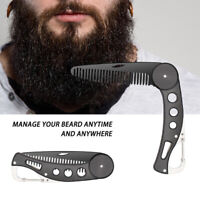 Stainless Steel Beard Straightening Portable Comb Foldable Men hair Styling comb